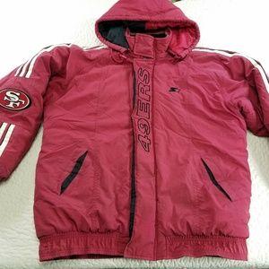 NFL San Franscisco 49ers Puffer Jacker Vintage